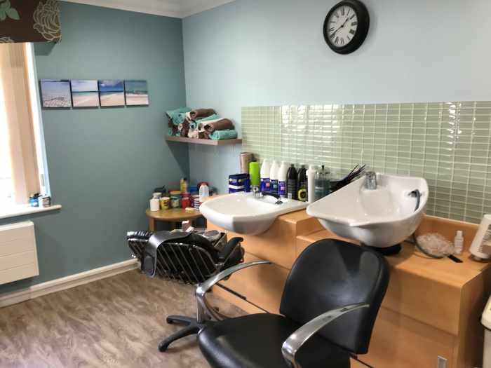 hair washing station at Tiffany's Hair Studio