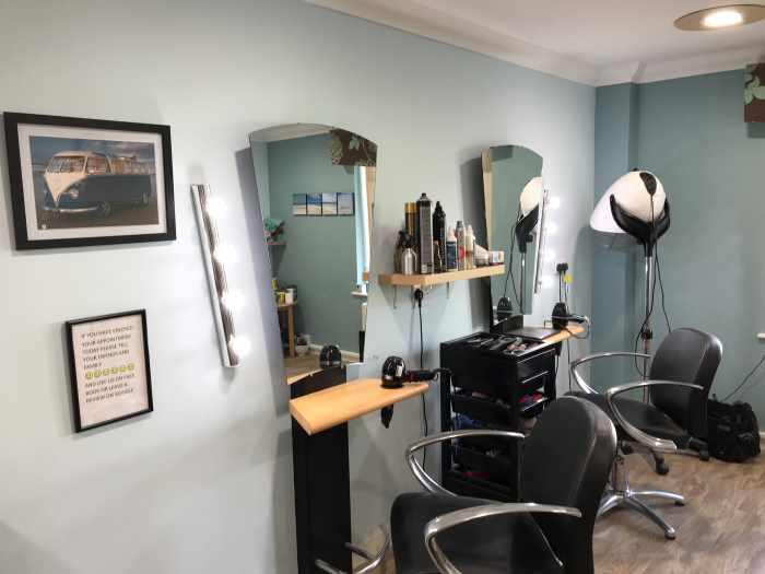 haircutting station at Tiffany's Hair Salon
