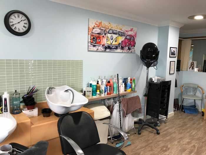 interior of Tiffany's Hair Studio
