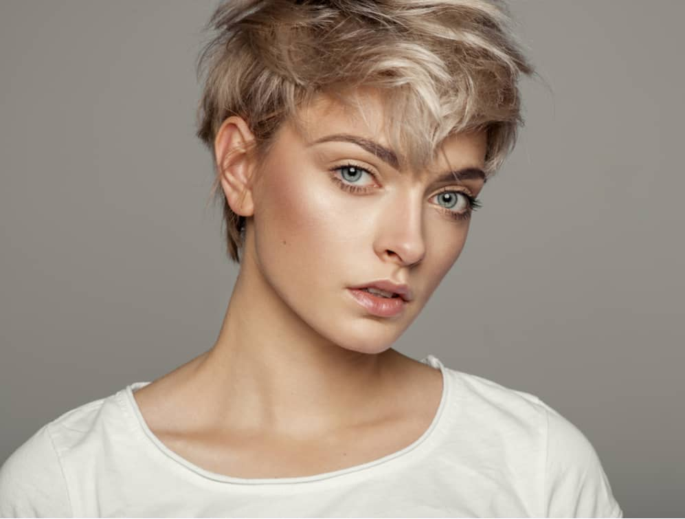 pixie haircut on beautiful lady